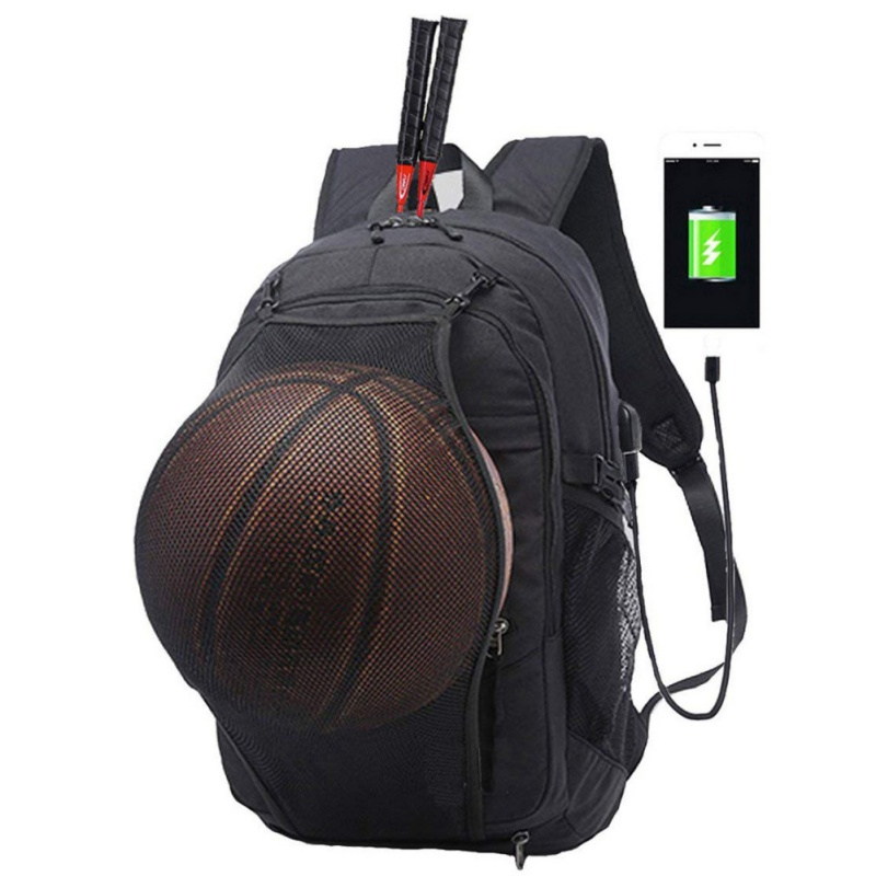 Sport Backpack Men Laptop Bag With Football Basketball Net For Teenager Boys Soccer Ball Pack Bag Gym Bags Training
