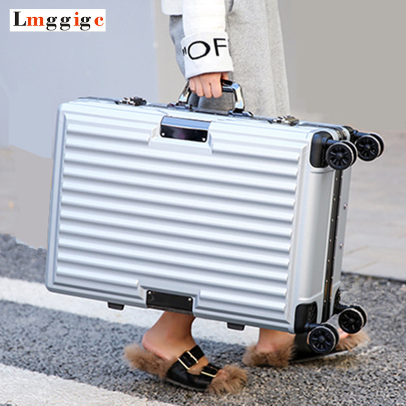 Aluminum frame + PC Shell Suitcase Bag, 2024 inch Rolling Luggage,High-quality Travel Box ,New Universal wheel Trolley CaseAluminum frame + PC Shell Suitcase Bag, 2024 inch Rolling Luggage,High-quality Travel Box ,New Universal wheel Trolley Case