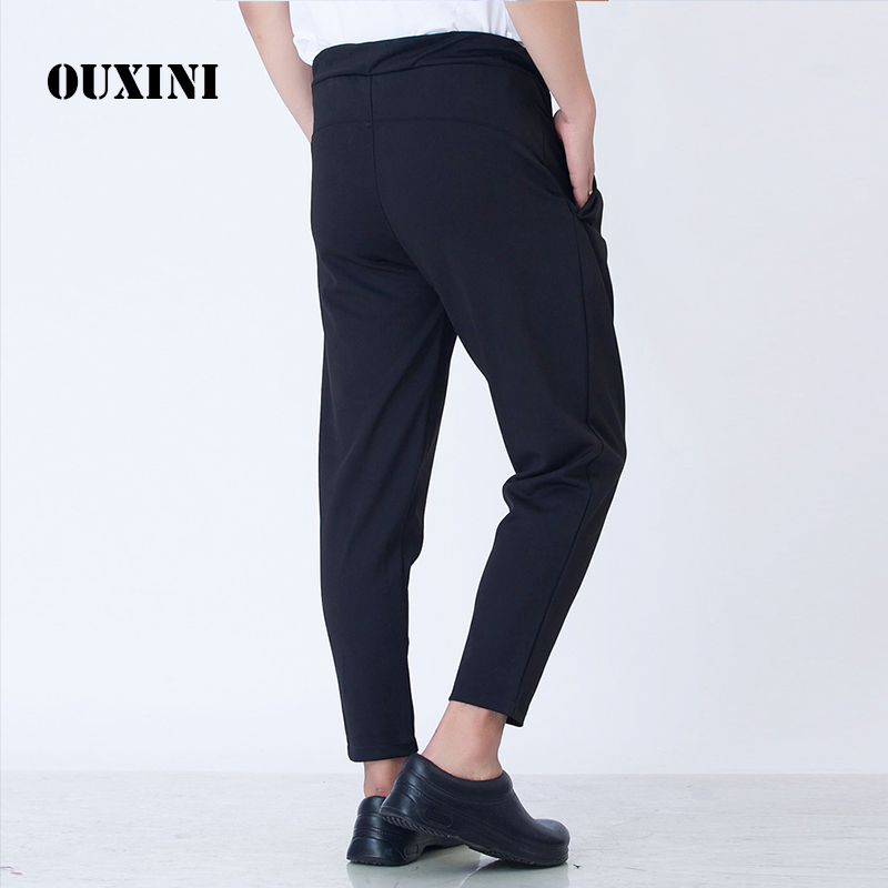 Summer Chef Waiter Pants Ultra-thin Breathable Chef Trousers Men Hotel Cook Service Cook Work Pants Restaurant Uniforms