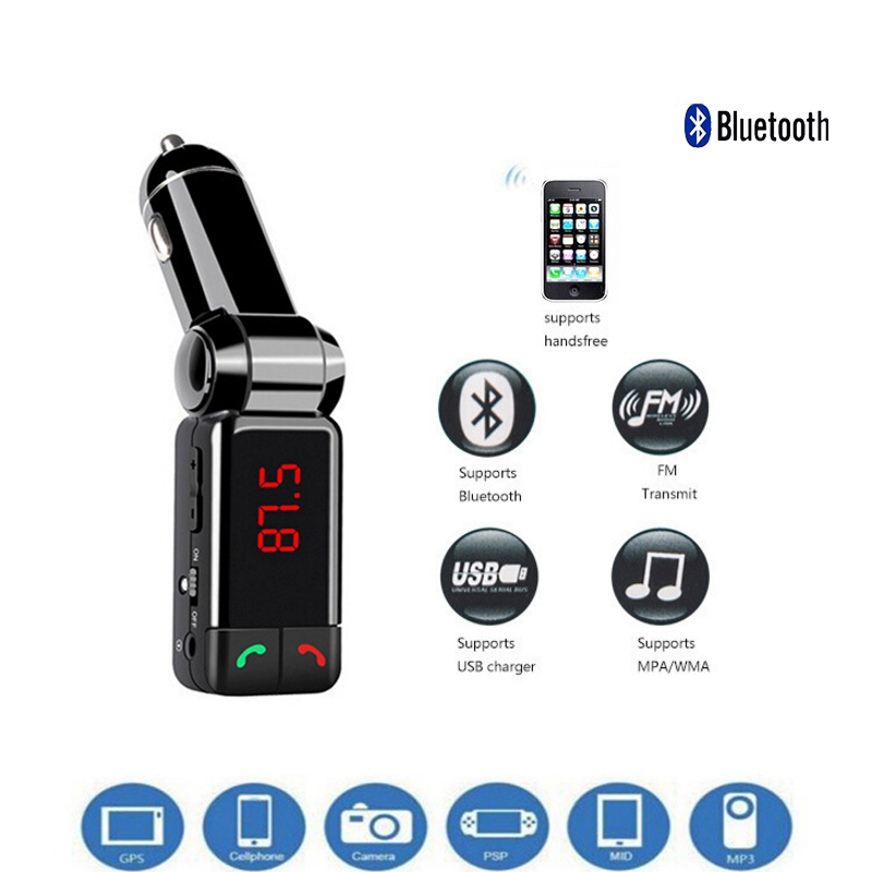 Car Bluetooth FM MP3 Player Transmitter Wireless Modulator HandsFree Car Kit LCD Display USB Charger for phone(China)