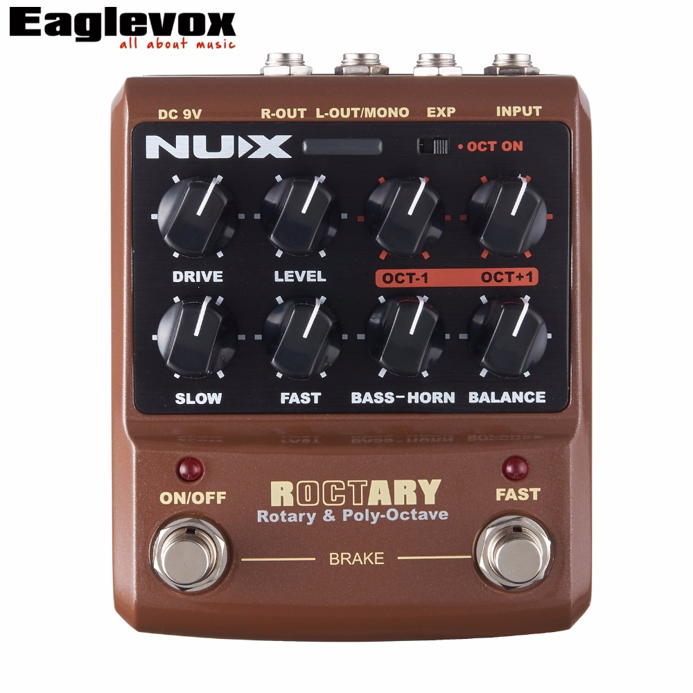 NUX Roctary Force Rotary  Octave Guitar Effect Pedal Stomp Boxes TSAC Technology True Bypass nux amp force guitar effect pedal stomp boxes dsp modeling amp cabinet simulator 9 user presets true bypass