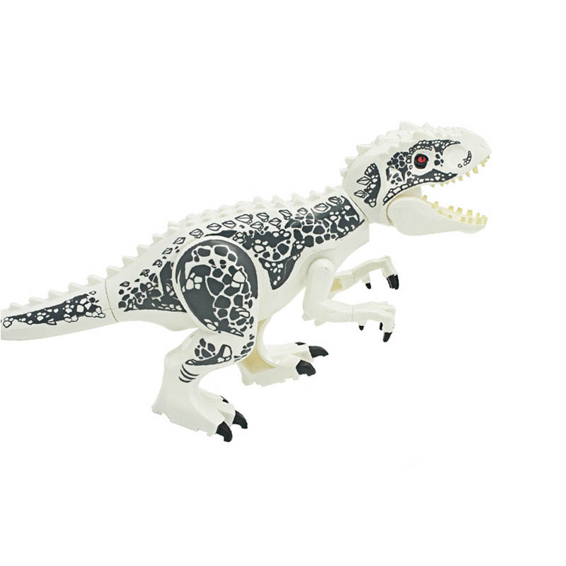 Indominus Rex DIY Blocks Single Sale Dinosaurs Tyrannosaurus Rex Mini Models Building Blocks Toys For Children in Blocks from Toys Hobbies