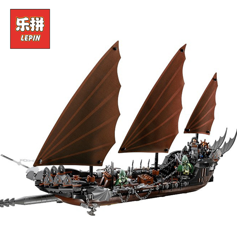 Lepin Movie 16018 The lord of rings Series the Ghost Pirate Ship Set Model & Building Blocks Bricks Assembled Toys 79008 Gift lepin 16030 1340pcs movie series hogwarts city model building blocks bricks toys for children pirate caribbean gift