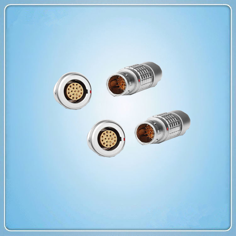 LEMO Connector,19 Pins plug and socket receptacle,Metal male female wire connector, cross LEMO FGG.2B.319 EGG.2B.319 lemo 1b 6 pin connector fgg 1b 306 clad egg 1b 306 cll signal transmission connector microwave connectors
