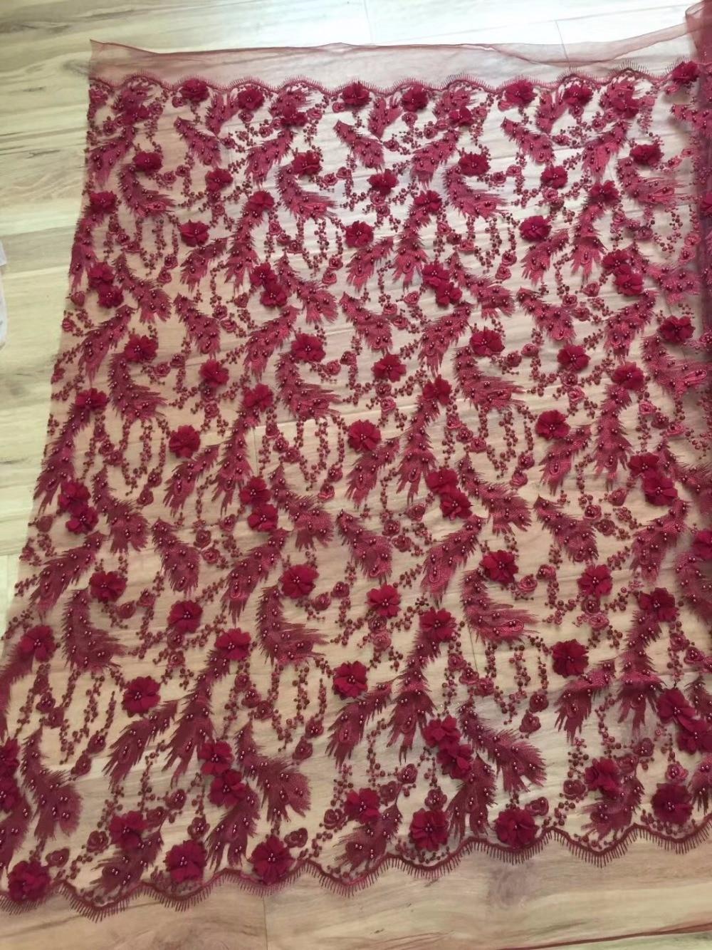 2018 Последняя мода африканских Кружево Ткань в нигерийском стиле Кружево Ткань высокое качество французского фатина Кружево Ткань Роскошны