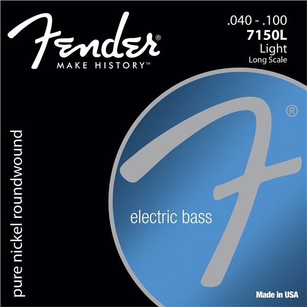 Fender 7150 s Pure Nickel Roundwound Long Scale Electric Bass Guitar Strings 7150XL 7150L 7150ML 7150M