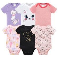 В году, новая одежда Kavkas для новорожденных девочек и мальчиков Младенцы Footie с длинным рукавом, хлопок, печать, Одежда для младенцев от 0 до 12 месяцев