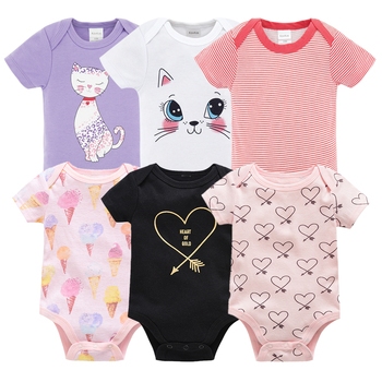 autumn baby footies 100% cotton long sleeve fleece footie pajamas warm for newborn baby infant boy girl outfit baby clothes 2019 New Kavkas Newborn Baby Girls Footies Boys Clothes Babies Footie Long Sleeve 100%cotton printing Infant Clothes 0-12 Months