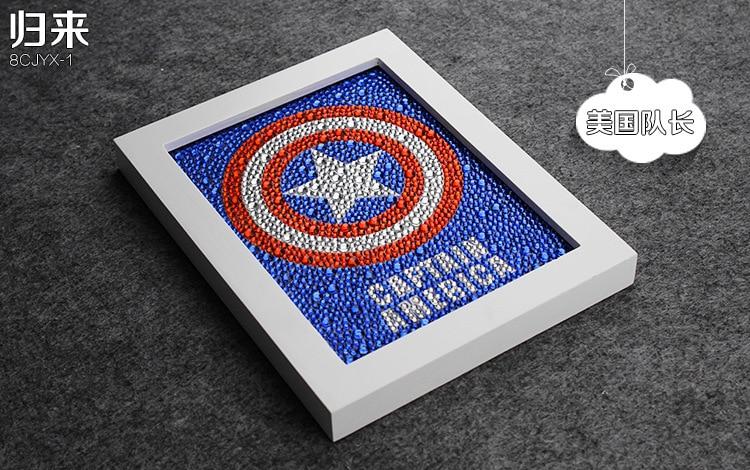 Diy 15 * 20CM Captain America 5D Diamond Painting Uşaq Zəkasını, - İncəsənət, sənətkarlıq və tikiş - Fotoqrafiya 4