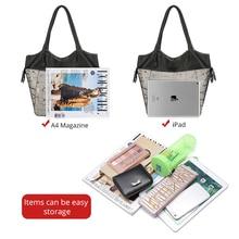 Luxury Genuine Leather Multifunction Women Shoulder Bag