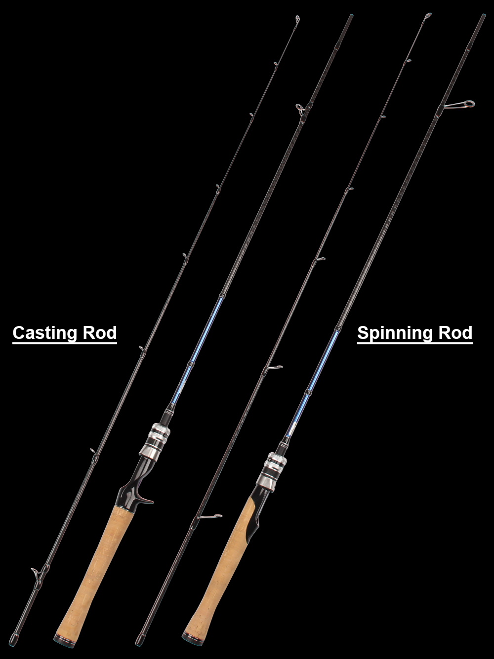 High Quality 1.89m Solid Tip Stream Fishing Rod F Action, L Power, 2-8g Lure Weight Discolor Painting Spinning Casting Rod  (9)