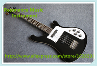 Çin Özel Dükkan 4 Dize Rick R4003 Elektrik Bas Gitar Parlak Siyah Finish Ihlamur Gitar Vücut Ücretsiz Kargo