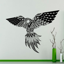 Bird Feathers Pattern Wall Decal Parrots Exotic Birds Vinyl Sticker Home Interior Wall Art Decor Ideas Home Decoration DIY C440 стоимость