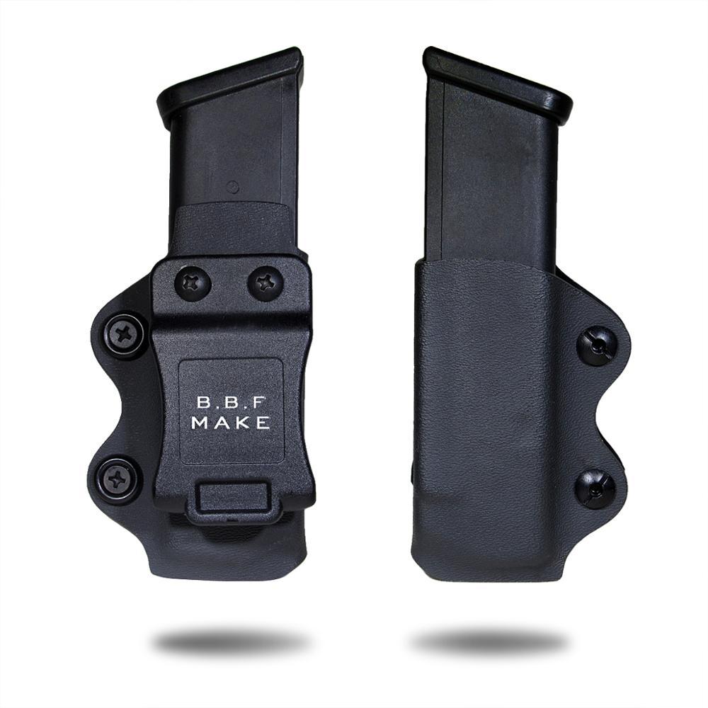 B.B.F hacer KYDEX funda pistola revista Clip funda encaja Glock 17/Glock 19/Glock 26/23/ 27/31/32/33 pistola revista accesorios de bolsa