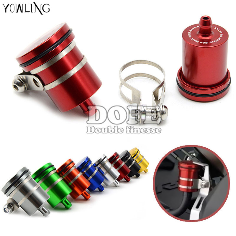 CNC Aluminum Motorcycle Clutch Tank Cylinder Master Oil Cup Brake Fluid Reservoir For yamaha YZF R125 R15 R25 r 125 15 25 mt-07 motorcycle brake fluid reservoir clutch tank oil fluid cup universal for yamaha r1 r3 r6 mt 07 mt 09 mt07 mt 07 tmax 530 ktm