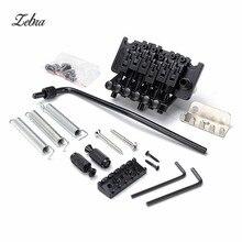 Zebra 1 Set Acoustic Guitar Double Locking Tremolo Bridge Black Locking Nut Lock For Musical Instruments Floyd Rose Replacement