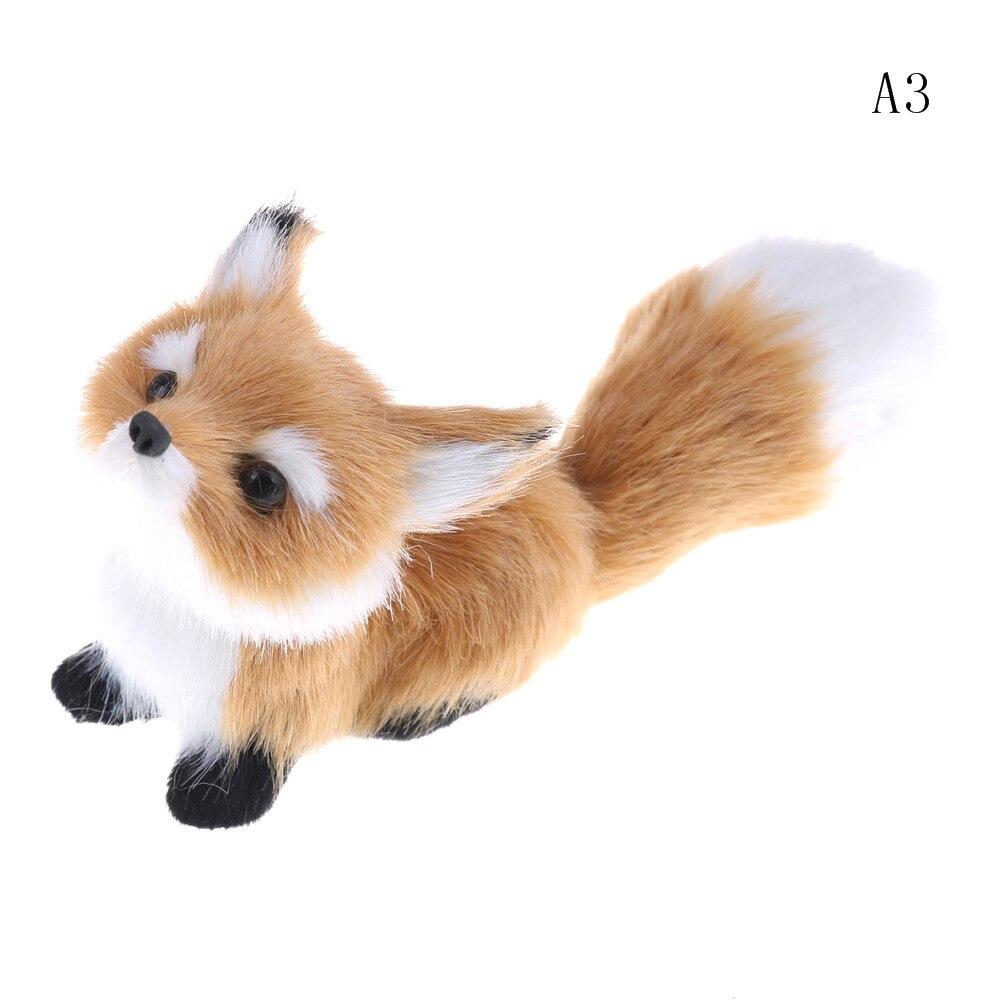 Имитация коричневой лисицы игрушки меха приседания лиса модель украшения дома животные мир со статическими фигурами игрушки подарок для д...
