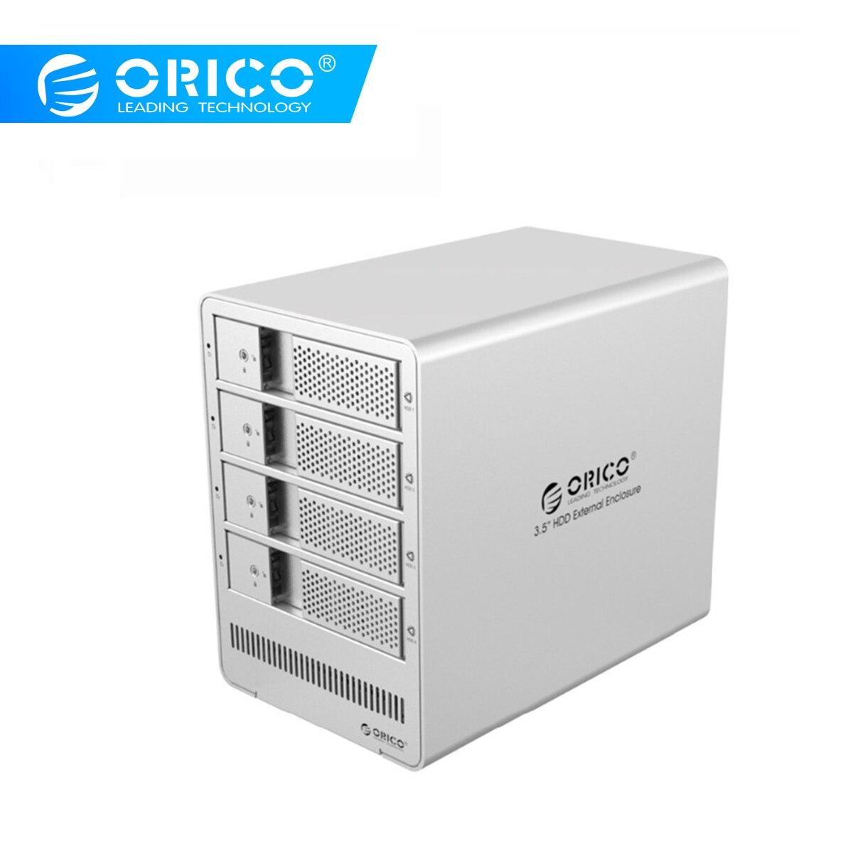 ORICO инструмент бесплатно 4 отсека 3,5 SATA Привод корпус HDD чехол алюминиевая док-станция 5 Гбит/с для ноутбука ПК