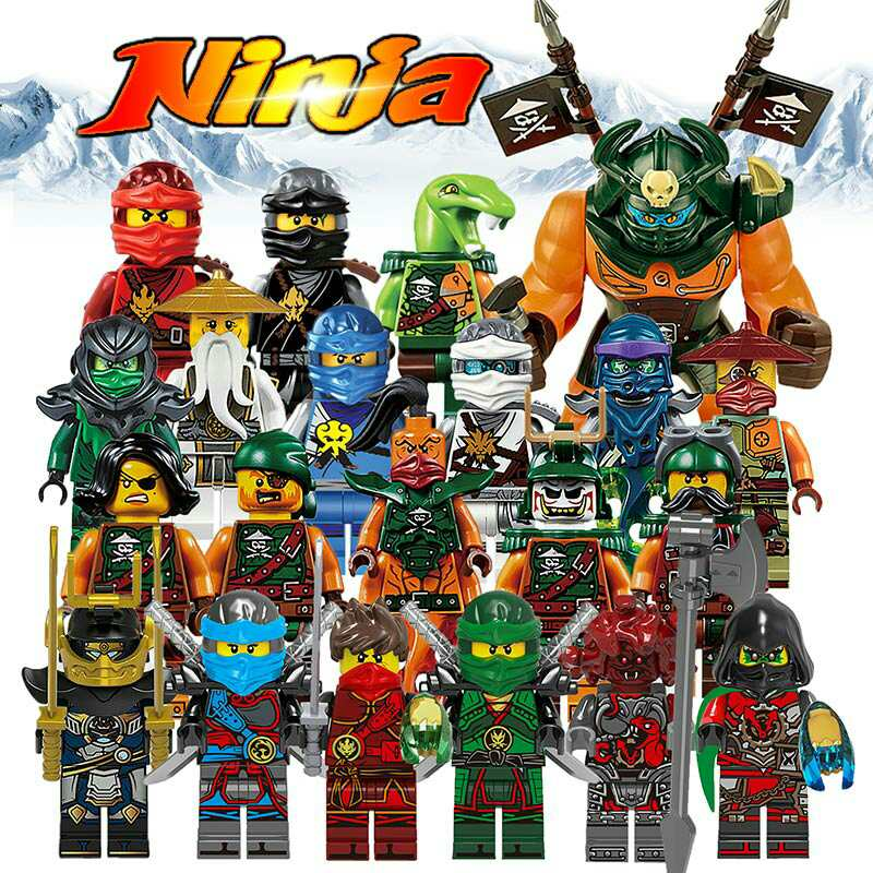Building Blocks Compatible with LegoINGlys NinjagoINGlys Sets NINJA Heroes Kai Jay Cole Zane Nya Lloyd Weapons Action Toy Figure kazi 608pcs pirates armada flagship building blocks brinquedos caribbean warship sets the black pearl compatible with bricks