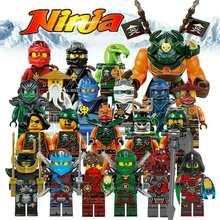 Building Blocks Compatible with LegoINGlys NinjagoINGlys Sets NINJA Heroes Kai Jay Cole Zane Nya Lloyd Weapons Action Toy Figure