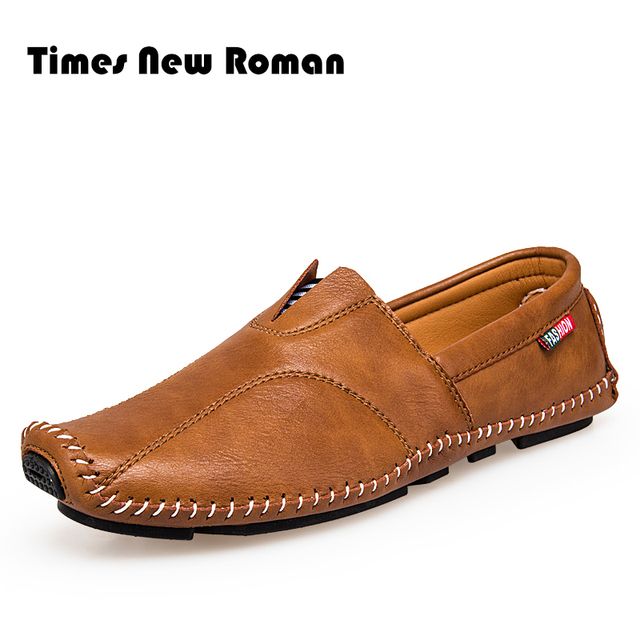 3d8e900e54f Times New Roman Fashion Style Soft Moccasins Men Loafers High Quality  Leather Shoes Men Flats Gommino Driving Shoes