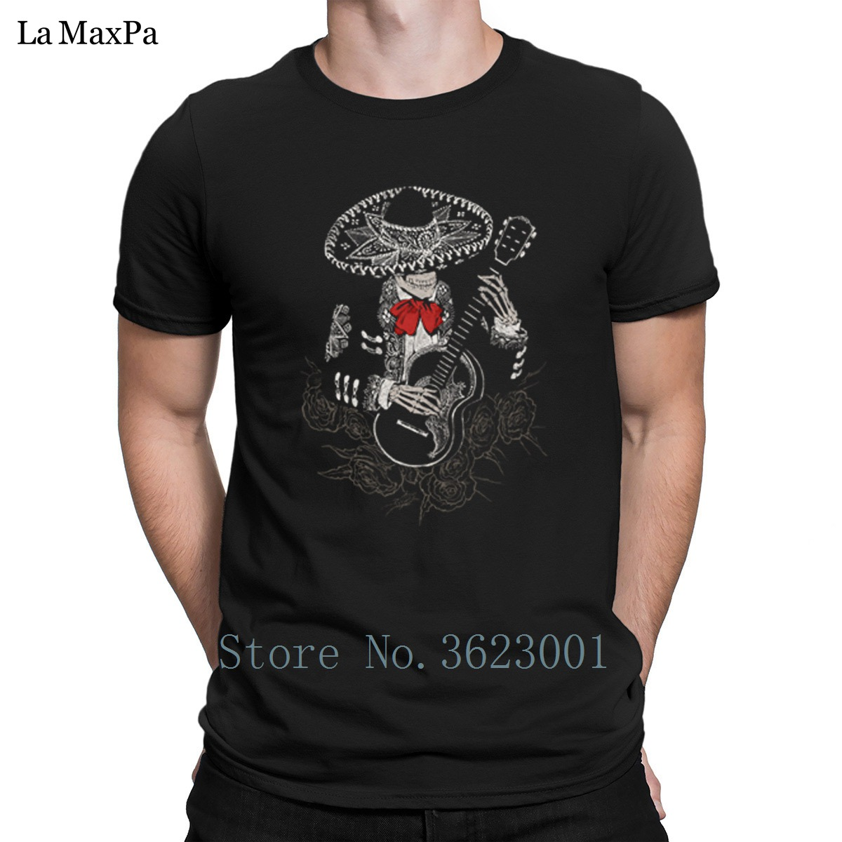 Design Classic Men T Shirt La Cucaracha Tee Shirt For Men Outfit T-Shirt Mens Funky Tshirt Cotton Loose