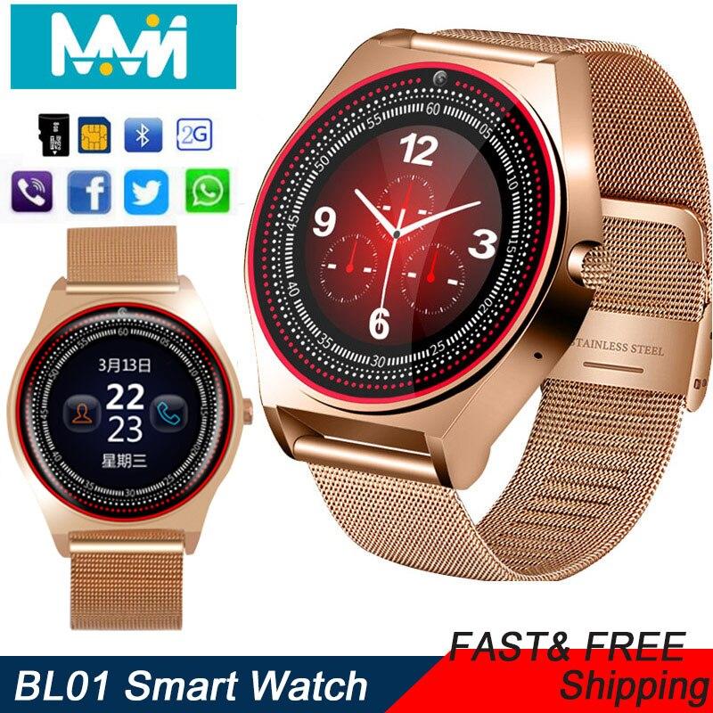 Relogio BL01 Bluetooth SmartWatch Relógio inteligente Phone Call GSM SIM C Câmera Exibir Informações Do Esporte Relógio Android Inteligente