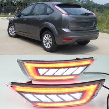 Для Ford Focus Хэтчбек классический 2009 2010 2011 2012 2013 автомобильный правый задний бампер отражатель фары задние противотуманные фары в сборе