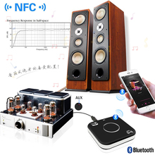 CSR and NFC Bluetooth Wireless audio receiver Adapter nondestructive Music stereo 3.5mm AUX HiFi Car speakers headphones