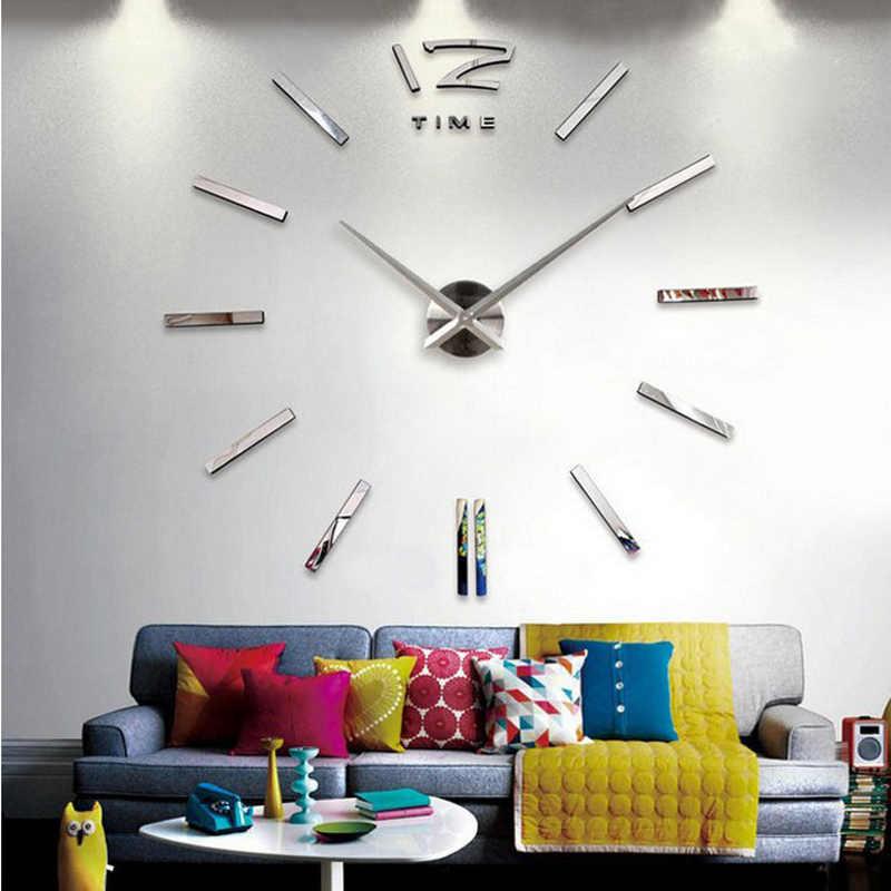 بيع ساعة حائط ساعات ساعة ثلاثية الأبعاد لتقوم بها بنفسك الاكريليك ملصقات للمرايا غرفة المعيشة الكوارتز إبرة أوروبا horloge شحن مجاني
