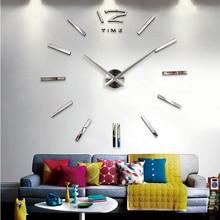 2015 new hot sale wall clock watch clocks Modern Antique Style home decoration 3d diy acrylic mirror stickers Quartz Living