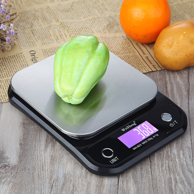Digital Kitchen Food Scale 10Kg/1g stainless steel weighing Postal Electronic Scales Measuring tools weight Balance 5