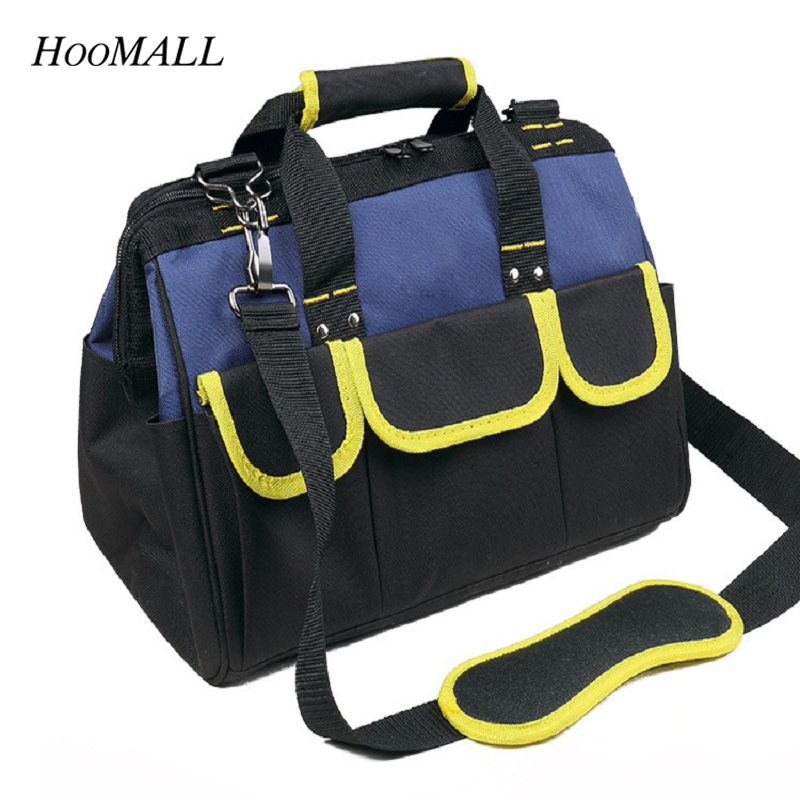 Hoomall 12 x15x 17 x20 Multifunction Electrician Tool Bag Large Capacity Thicken Professional Repair Tool Bag Messenger Toolkit canvas kit multifunction waist bag electrician repair water resistant pockets tool bag