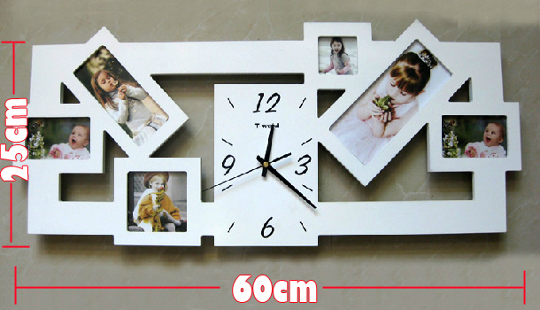 1pcs Diy Photo Frame Clock Wall Modern Design Home Decor Free Shipping In Clocks From Garden