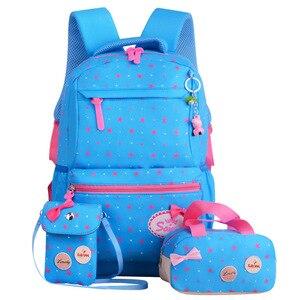 Image 3 - Children School Bags Teenagers Girls Printing Rucksack school Backpacks 3pcs/Set Mochila kids travel backpack Cute shoulder bag