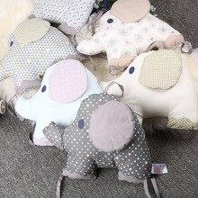 Детские постельные принадлежности, изделия из чистого хлопка, слон, балдахин, детская кровать для защиты спины, подушка 27*34 см