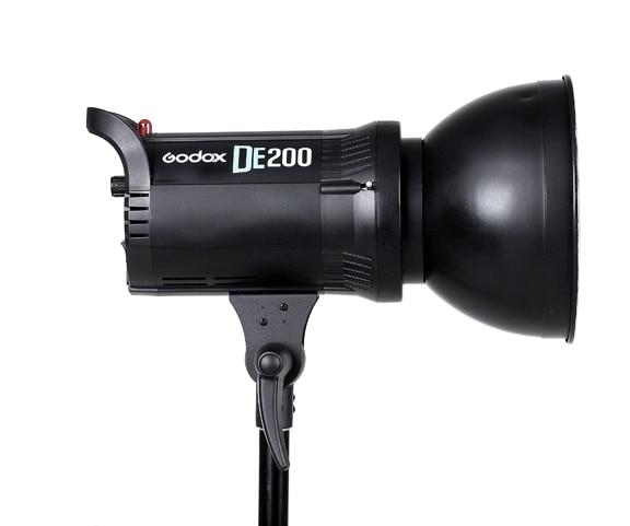 Godox DE200 200W Compact Studio Lighting Lamp Head Flash Light Strobe 200Ws 220v-240v 2017 new classic messenger bags with metal ring popular tote lady split leather handbags women chain shoulder bags bolsas qn262