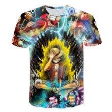 New Anime Tshirt Summer Men's Funny fire Print One Piece 3d T-shirt Male Hip hop Streetwear O-Neck T Shirts Mans Tops&Tees Shirt 2019 summer new style 3d kid t shirt cartoon super mario 3d print t shirt funny drugs casual gamer o neck 3d tshirt t shirts top
