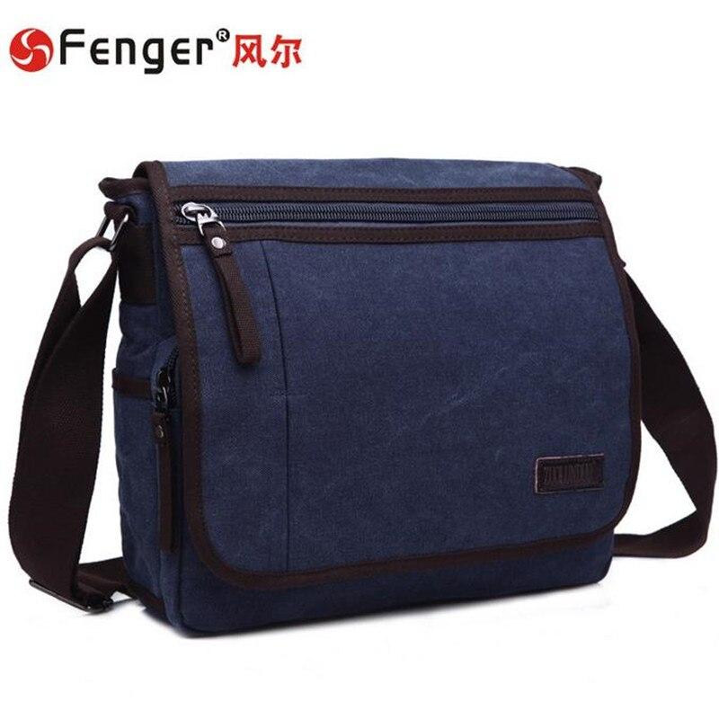 ФОТО Male handbags bag canvas messenger bag casual fashion men's business bag dark blue Satchel Computer Bag mochila