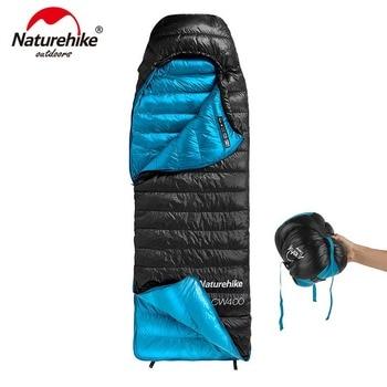 Naturehike CW400 конверт Тип белый гусиный пух спальный мешок зима теплый s NH18C400-D