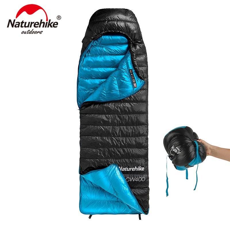 Naturehike CW400 Tipo Ganso Branco Para Baixo saco de dormir Inverno Envelope Sacos de Dormir Quentes NH18C400-D