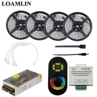 SMD2835/3528 RGB Led Flexible Strip Light With Led RGB Strip RF Led Controller Power Supply Driver Kit 5M 10M 15M 20M