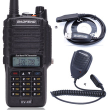 Baofeng UV XR 10W High Power 4800mAh WaterProof Dual Band Walkie Talkie Two Way Radio+One Speaker Mic+One Programming Cable