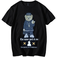 Cartoon Bear Men Hip Hop T Shirt Men 3d Tshirts Sexy Male Short Sleeve TShirts Mens Top Clothing 9XL 6XL 7XL 8XL