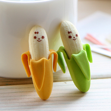 4 Pcs Lovely kawaii Banana Fruit Style Rubber Pencil Eraser Students korean Stationery School And Office Supplies small Gifts