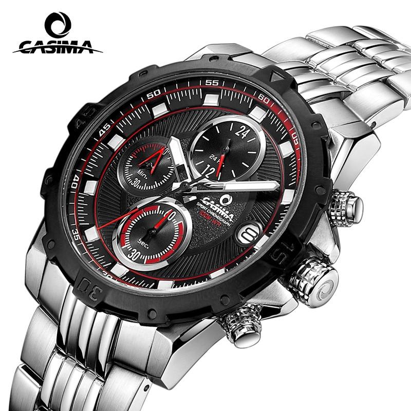 Fashion Luxury brand watches men casual charm luminous sport multi-function mens quartz wrist watch waterproof 100m CASIMA#8306 цена и фото