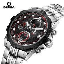 Mode marque De Luxe montres hommes casual charme lumineux sport multi-fonction mens quartz montre-bracelet étanche 100 m CASIMA #8306