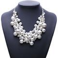 Новое Прибытие мода коренастый роскошный пузырь имитация перл подвеска choker Ожерелье заявление украшения для женщин