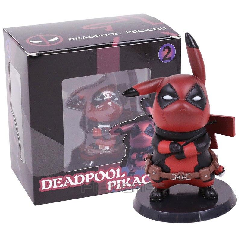 Deadpool Capitán América Pikachu Mini figura de PVC juguete coleccionable tamaño pequeño 10 cm