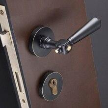 Элегантный Разработанный 1 комплект Европейский Твердый латунный комплект с дверным замком интерьер спальни ванная комната Гостиная бесшумный дверной замок w ключи
